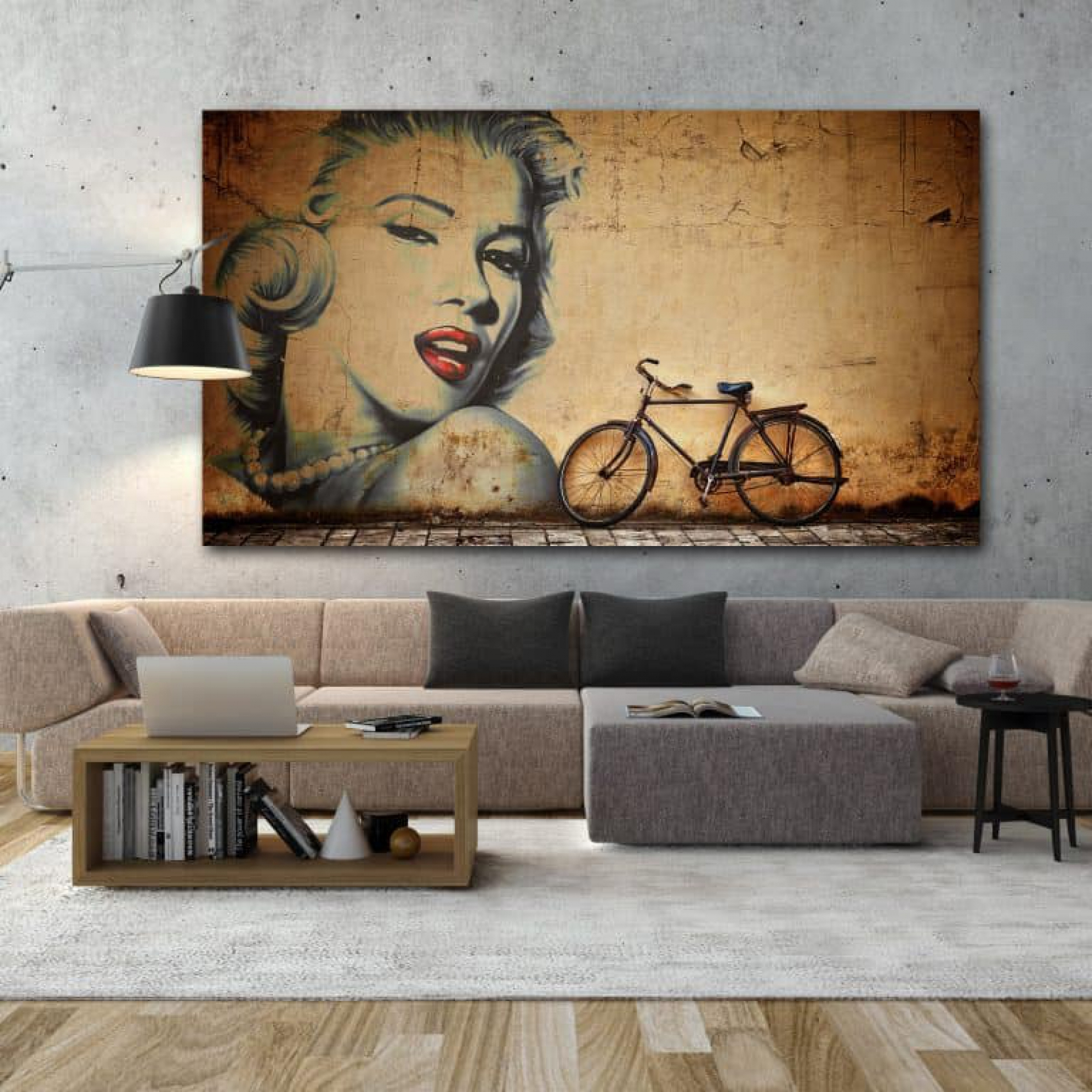 OLD CHINEES WALL WITH MARILYN